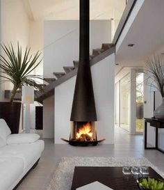 Minimalism. And THAT fireplace.