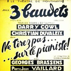 Aux 3 baudets #paris #music-hall #france #francais #brassens #exhibition #exposition #poster #phoneography #art #affiche #retro #typography #typographie #graphicdesign #yellow #ig #iger #igmetz #iphonography #iphoneography #statigram #font #fonts #jaune #vintage #concert