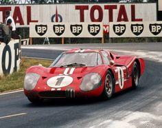 Dan Gurney/A.J. Foyt GT40 at 24 Hour LeMans 1967 France