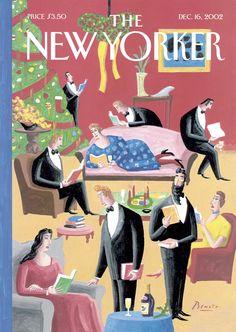 """The New Yorker - Monday, December 16, 2002 - Issue # 4010 - Vol. 78 - N° 39 - Cover """"Seasonal Festivities"""" by Benoît van Innis"""