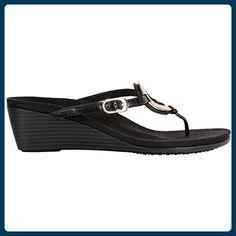 Vionic Womens 380 Orchid Park Black Leather Sandals 39 EU - Sandalen für frauen (*Partner-Link)