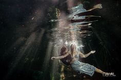 Cenote Underwater photography by Naal Wedding. Trash The Dress