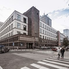 80-years old building of the State Telecoms, Nowogrodzka street, Warsaw, Poland