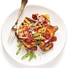 Vegan Recipes: Grilled Eggplant and Tofu Steaks with Sticky Hoisin Glaze | CookingLight.com