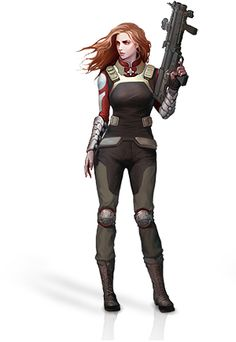 Helvética : Templar_Assault_DPS_Deck_Name. Female Character Design, Character Concept, Character Art, Sci Fi Rpg, Sci Fi Armor, Gangsters, Science Fiction, Female Armor, Templer
