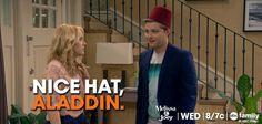 "Lennox: ""Nice hat, Aladdin!"""
