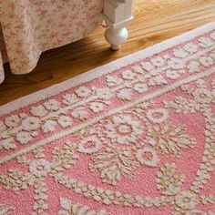 Posh Tots Pink Lace Rug Sale: $234.50