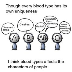 blood types our uniqueness. Real crazy man- Korean manga