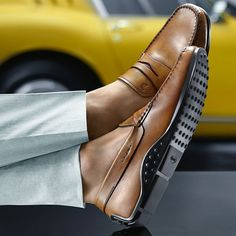 Attire by using Footwear, meet by using footwear, that days choices of opportunities is limitless. Brown Loafers, Penny Loafers, Loafers Men, Loafers Outfit, Loafer Shoes, Sneakers Fashion, Fashion Shoes, Mens Fashion, Men's Club Wear