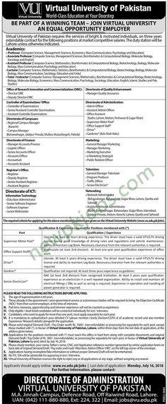 Ghazi University Dera Ghazi Khan Jobs 2018 Latest for Professor