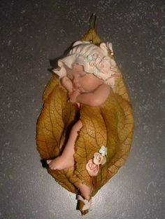 bébé dans une feuille