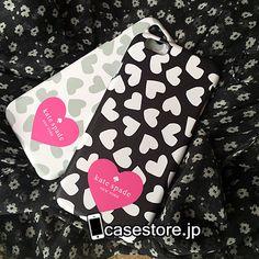 kate spade iphone8/7s/6 plus 6sスマホケース可愛いハート柄携帯カバーアイフォン7/7Plusギャラクシーs7