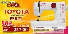 SEW-PER DEAL! Toyota FSR21 #sale #discount #clearance #sewing #machine #toyota