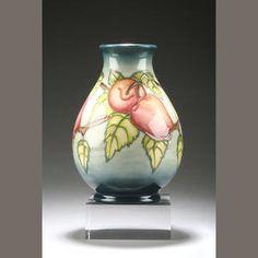 A Moorcroft 'Apples' trial vase