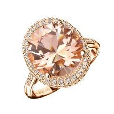 """""""Vraiment Toi"""" morganite & red gold ring by Mauboussin"""