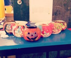 Our Halloween decorations! #littlemiracles #charity #halloween  #artsandcrafts
