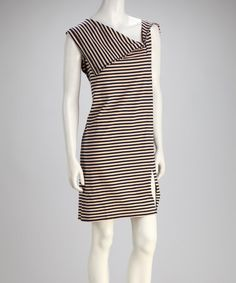 Take a look at this Peach Stripe Shift Dress by Pine Apparel on #zulily today!  $22.99