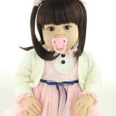 """182.60$  Buy here - http://alinvo.worldwells.pw/go.php?t=32705761560 - """"70cm 28"""""""" Big Size Toddler Girls soft Vinly Silicone Reborn Baby Dolls Princess Lifelike Girl Dolls Children Toys Clothing Model"""""""