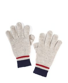 Wool gloves with pull-down thumbs for texting form Jack Spade