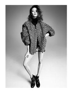 oversized jacket and a lotta leg