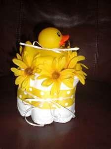 Duck mini diaper cake