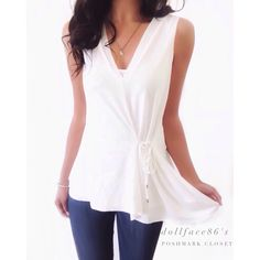 """NWT Zara White Soft & Stretchy Gathered Waist Top This tank top has a light & stretchy fabric that feels exquisitely soft. It's pretty & elegant a nice top for Spring & Summer season. New with tags {actual color of item may vary slightly from photos}  •chest:19"""" •waist:17""""w •length:25.5""""  Material:viscose/polyester ️machine wash  Fit:stretchy might work for medium too Condition:no rips no stains light & small snag on back ✨NEW✨ ❌no holds ❌no trades ♥️️bundles of 3/more items get 20% off Zara…"""