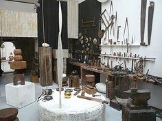 Brancusi's Atelier with tools.