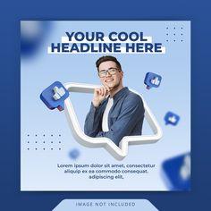 Social Media Poster, Social Media Design, Ads Creative, Creative Advertising, Timeline Design, Instagram Post Template, Marketing Digital, Photoshop, Posts