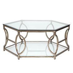 Graceful and modern Z Gallerie Brooke Hexagonal Coffee Table, $599.00