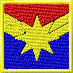 Captain Marvel Symbol Patch by GlitchTechSewing on Etsy, $8.50
