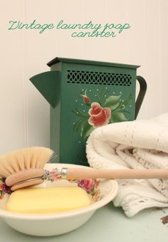 vintage laundry soap dispenser