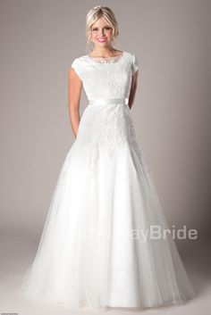 Modest Wedding Dresses :  Mormon LDS Temple Marriage - Melville