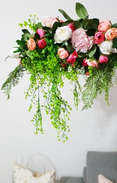 How To Make A Floral Chandelier - Step Inside My Handbag Flower Chandelier, Chandelier Ideas, Diy Wedding, Wedding Reception, Wedding Colors, Wedding Flowers, Flower Room Decor, Wedding Decorations, Table Decorations