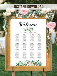 Lovely Greenery Winter Wedding Seating Chart Sign, perfect for a botanical and nature wedding! #botanicalwedding #greenerywedding #weddingsign #seatingsign