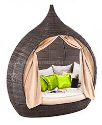 Garden Furniture Pod new for 2014 zebrano rattan have this amazing rattan garden corner