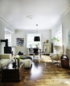stylist: kml design  photographer: Mikkel Adsbøl - classic details/parquet floor/midcentury furnishings...