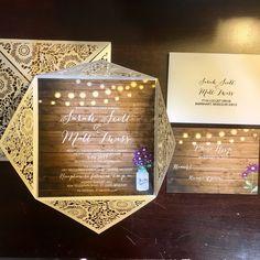 PureDesignGraphics shared a new photo on Etsy Custom Invitations, Invitation Design, Wedding Invitations, Diy Wedding Decorations, Hanging Lights, White Envelopes, Mason Jar, Card Stock, Messages