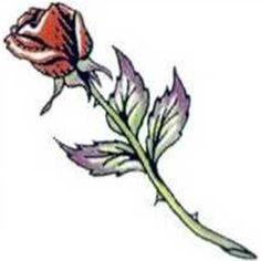 Hypoallergenic 2 X 2 Long Stem Rose Tattoo Is Fda Certified Photo ...