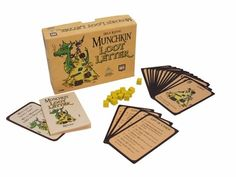 Munchkin Loot Letter - $10.99 - A variation on Love Letter... with a fun Munchkin twist! You can bet there are some funny cards in this game...