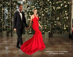 Stormy & Comey arrive at White House for State dinner. Barbie Wardrobe, Dress Making, Mermaid, Dinner, Formal Dresses, House, Style, Fashion, Dining