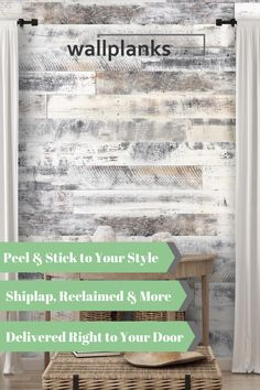 From ship lap to reclaimed barnwood to peel & stick wallpaper, let Wallplanks be your go to for your next DIY room makeover!