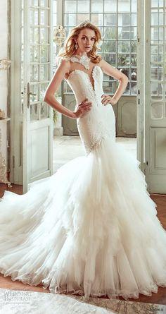 nicole spose bridal 2017 sleeveless jewel neck split sweetheart fit flare wedding dress (niab17051) mv