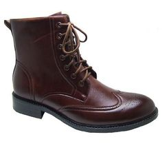Mens Wingtip Fashion High Ankle Boots Dress Leather Lined Shoes Lace Up with Zipper Great Casual W Jeans or dressed up By Delli Aldo - Runs Big Order 1 full size smaller Delli Aldo,http://www.amazon.com/dp/B00BFJ0Y1K/ref=cm_sw_r_pi_dp_yxqhsb16Z011CKYH