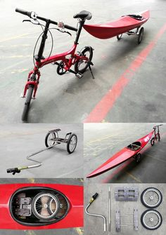 Amphibious Biking - folding bike trailers and folding bikes