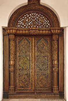 Inner door in The Beit El- Ajaib in Zanzibar. Built in 1883 by Sultan Khalid bin Barghash.