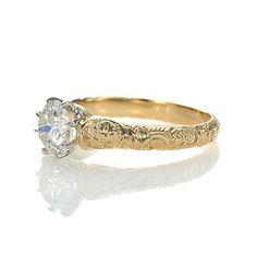 Replica Art Nouveau Engagement Ring - 2506-02