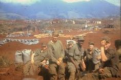 Marines of Bravo, 1/26, right before the Siege of Khe Sanh. Left to right…