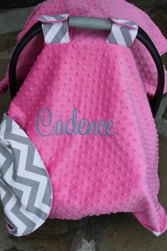Baby Car Seat Cover Boy or Girl Fabric and by browniesnbutterflies, $41.99