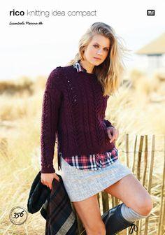 Cabled Sweater in Essentials Merino DK - 356 - Digital Version 3438bd7df