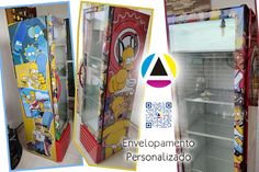 Envelopamento personalizado dos Simpsons Banners, Displays, E Design, Point Of Purchase, Totem Poles, Diy House Decor, Stickers, Home, Decorate Walls